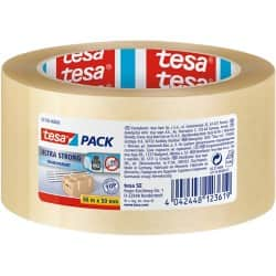 tesapack Verpackungsklebeband Ultra Strong 50 mm x 66 m Transparent
