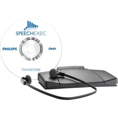 Philips SpeechExec Transkriptionsset LFH7177 inkl. WorkFlow-Software Grau