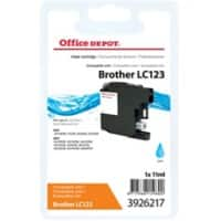 Kompatible Office Depot Brother LC123C Tintenpatrone Cyan