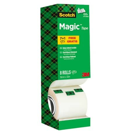 Scotch Klebefilm Magic 810 19 mm x 33 m Transparent 8 Rollen