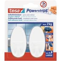 tesa Powerstrips Klebehaken Power Strip Weiß