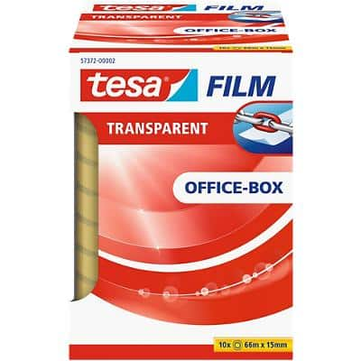 tesafilm Klebefilm 57372 Office Box Polypropylen 15 mm x 66 m Transparent 10 Rollen