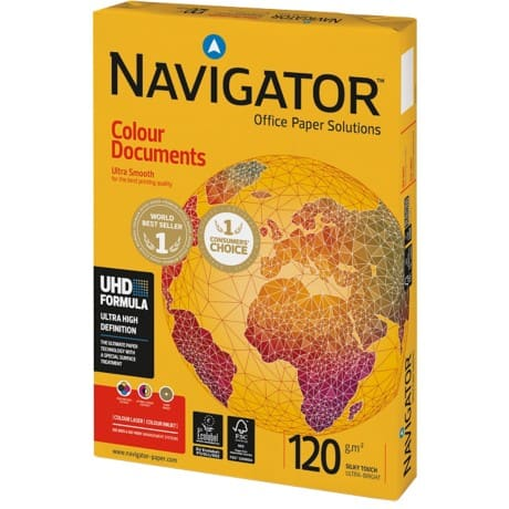 Navigator Colour Documents Papier DIN A4 120 g/m² Weiß 250 Blatt
