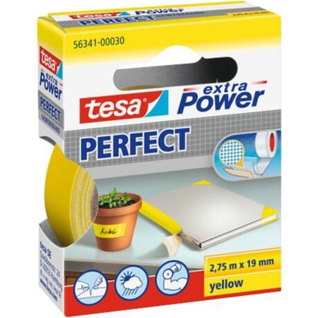 tesa extra Power Gewebeband Perfect 19 mm x 2,75 m Gelb