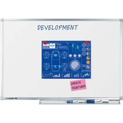 Legamaster Professional Whiteboard Emaille Magnetisch 300 x 120 cm
