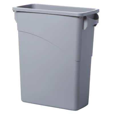 Rubbermaid Abfalleimer Slim Jim 3541 Grau 27,5 x 51 x 63,5 cm