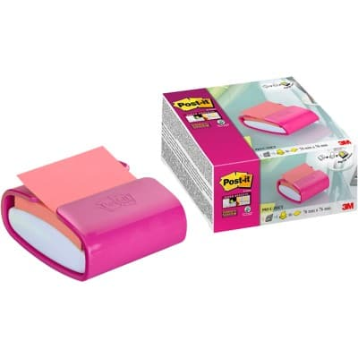 Post-it Haftnotizenspender Z-Note Pro Fuchsia 76 x 76 mm 90 Blatt