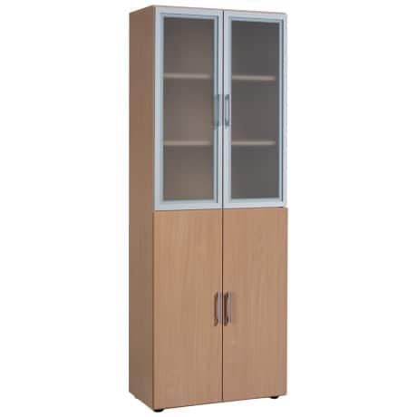 Geramoebel Aktenschrank Speed Office Lichtgrau 80 x 42 x 216 cm