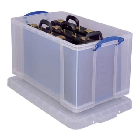 Really Useful Boxes Aufbewahrungsbox 84CCB 84 l Transparent Kunststoff 44 x 71 x 38 cm