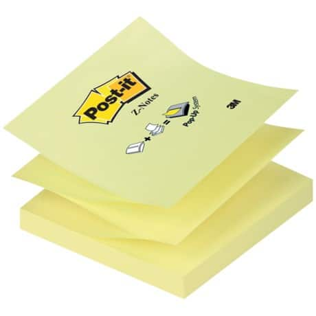 Post-it Z-Notes Haftnotizen R330 Kanariengelb Blanko   70 g/m² 100 Blatt