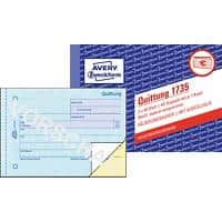 AVERY Zweckform Quittungsblock 1735 DIN A6 quer Perforiert