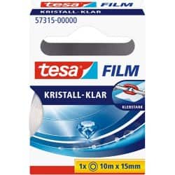 tesafilm Klebefilm Crystal Clear 15 mm x 10 m Transparent