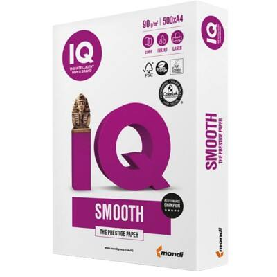 IQ Selection Smooth Multifunktionspapier DIN A4 90 g/m² Weiß 500 Blatt