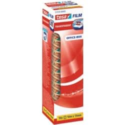 tesafilm Klebefilm 57370 Office Box 15 mm x 10 m Transparent 10 Rollen à 10 m