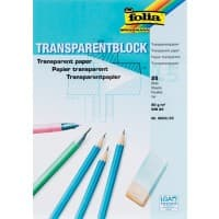 Folia Transparentpapier DIN A4 80 g/m² 210 x 297 mm Transparent 25 Blatt