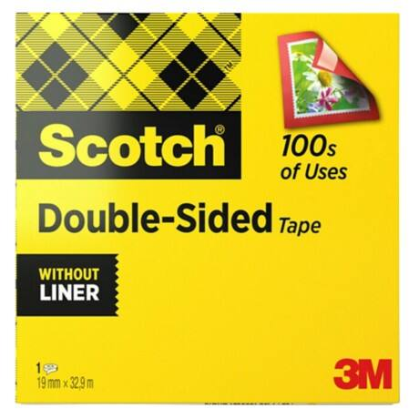 Scotch Doppelseitiges Klebeband 665 19 mm x 33 m Transparent