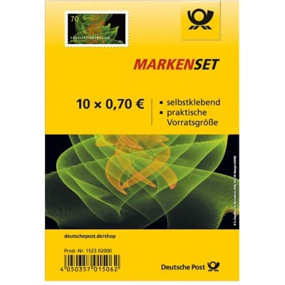 deutsche post briefmarken selbstklebend 0 70 10 st ck. Black Bedroom Furniture Sets. Home Design Ideas