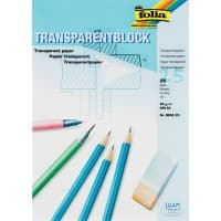 Folia Transparentpapier DIN A3 80 g/m² 297 x 420 mm Transparent 25 Blatt