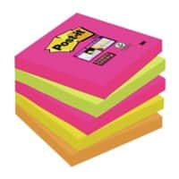 Post-it Super Sticky Notes 76 x 76 mm Kapstadt Farbig sortiert 5 Blöcke à 90 Blatt