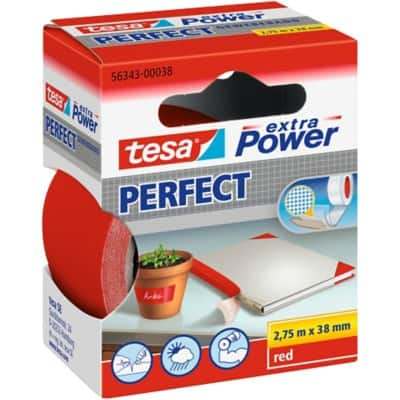 tesa extra Power Gewebeband Perfect 38 mm x 2,75 m Rot