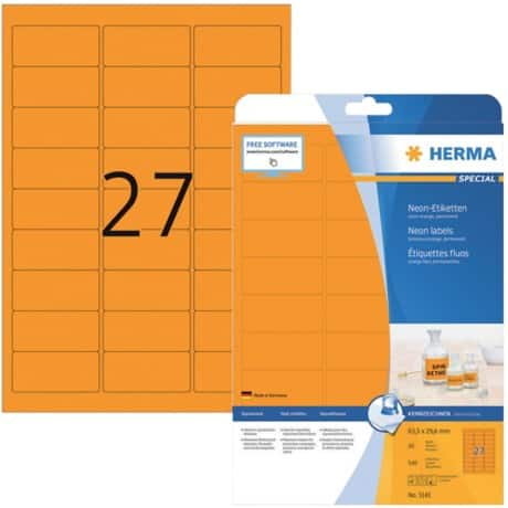 HERMA Etiketten Intensiv orange 540 Stück