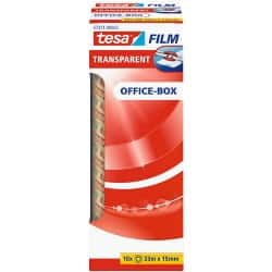 tesafilm Klebefilm 57371 Office Box 15 mm x 33 m Transparent 10 Rollen