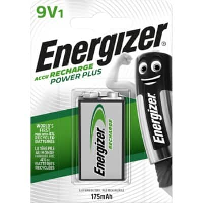 Energizer Wiederaufladbare Batterien Recharge Power Plus 9V