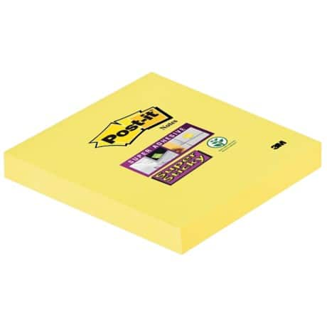 Post-it Haftnotiz Super Stick Ultra Yellow Ultragelb Blanko 76 x 76 mm 90 Blatt