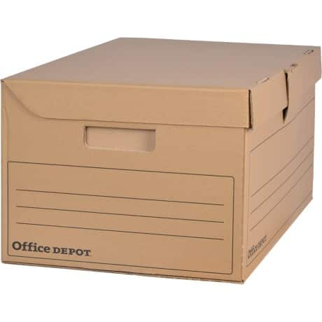 office depot archivboxen 6 ordner braun pappe 25 5 x 54 5 x 35 4 cm 10 st ck viking deutschland. Black Bedroom Furniture Sets. Home Design Ideas