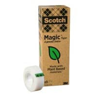 Scotch Magic Klebeband A Greener Choice 19 mm x 33 m Matt Unsichtbar Pack mit 9 Rollen