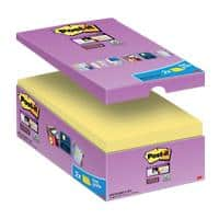 Post-it Super Sticky Haftnotizen 127 x 76 mm Kanariengelb 90 Blatt 14 Blöcke + 2 Gratis