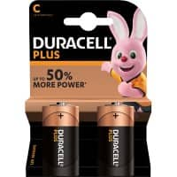 Duracell C Alkali-Batterien Plus Power MN1400 LR14 1,5 V 2 Stück