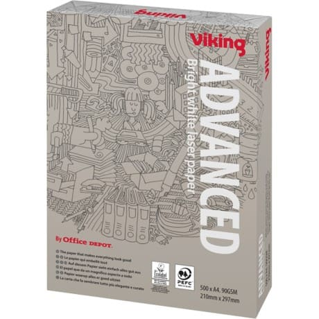 Viking Advanced Multifunktionspapier DIN A4 90 g/m² Weiß 500 Blatt