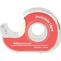 Office Depot Klebefilm 19 mm x 25 m + Klebefilm-Abroller Transparent