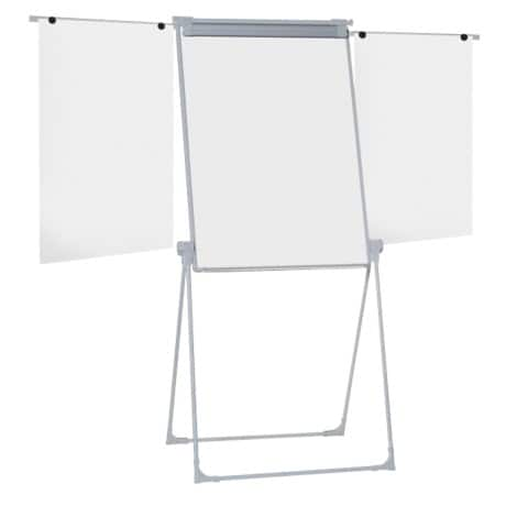 Office Depot Klapp-Flipchart Management Silber 70 x 100 cm