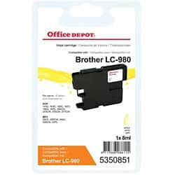 Kompatible Office Depot Brother LC980Y Tintenpatrone Gelb
