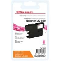 Kompatible Office Depot Brother LC980M Tintenpatrone Magenta