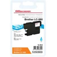 Kompatible Office Depot Brother LC980C Tintenpatrone Cyan