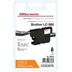 Kompatible Office Depot Brother LC980BK Tintenpatrone Schwarz