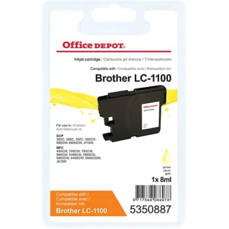 Kompatible Office Depot Brother LC1100Y Tintenpatrone Gelb