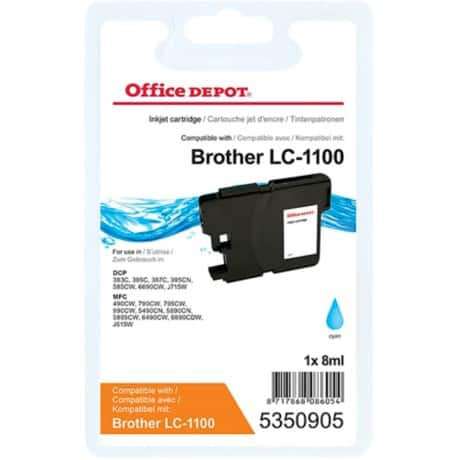 Office Depot Kompatibel Brother LC1100C Tintenpatrone Cyan