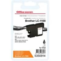 Kompatible Office Depot Brother LC1100BK Tintenpatrone Schwarz