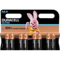 Duracell AA Alkali-Batterien Ultra Power MX1500 LR6 1,5 V 8 Stück