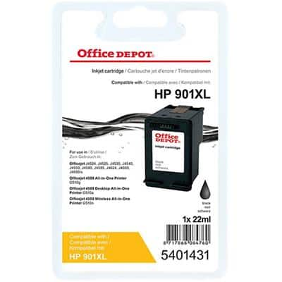 Kompatible Office Depot HP 901XL Tintenpatrone CC654A Schwarz