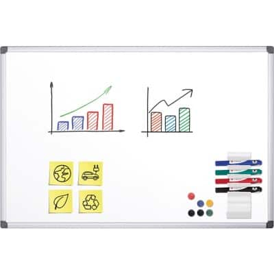 Office Depot Green Whiteboard Emaille Magnetisch 150 x 100 cm