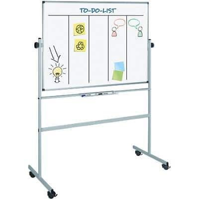 Office Depot Superior Mobiles Whiteboard Emaille Magnetisch 150 x 120 cm