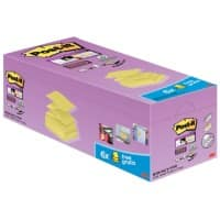 Post-it Sticky Z Notes 76 x 76 mm Kanariengelb 90 Blatt 16 Blöcke + 4 Gratis