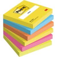 Post-it Notes 76 x 76 mm Active Collection Farbig sortiert 6 Blöcke à 100 Blatt