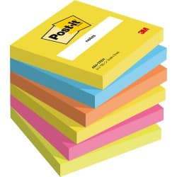Post-it Haftnotizen Active Collection Farbig sortiert Blanko 76 x 76 mm 70 g/m² 6 Stück à 100 Blatt