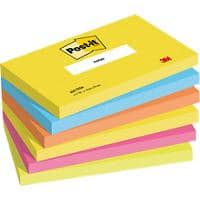 Post-it Notes 127 x 76 mm Active Collection Farbig sortiert 6 Blöcke à 100 Blatt